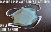 Coudre un masque à plis selon le guide de l'AFNOR   Tutoriel couture