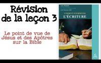 Leçon de l'école du sabbat Résumé leçon 3....... Avril 2020 la Bible #3
