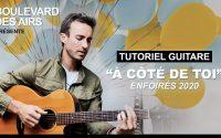 """Tutoriel guitare """" A côté de toi """" Les restos du coeur 2020"""