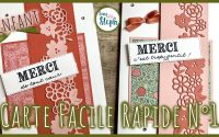 [Tutoriel n°30] Carte rapide et facile n°1 - Scrap with Steph