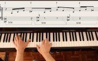 Tutoriel piano 6: indépendance rythme polyrythme coordination Exercice 6