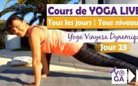 YOGA DYNAMIQUE | Apprendre le guerrier 2 | Cours de vinyasa en français |Tuto Yoga | confinement J23