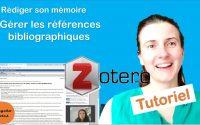 Zotero: logiciel pour gérer la bibliographie d'un mémoire, TER, thèse [Tutoriel]