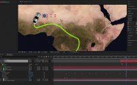 Animation de voiture sur un globe terreste en Bambara tutoriel after effect