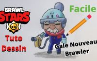 Comment dessiner Gale le Nouveau Brawler de Brawl Stars ? Facile  [Tutoriel]