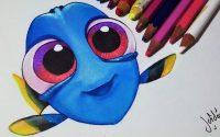 Comment dessiner bébé Dory [Tutoriel]