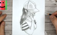 Comment dessiner une fille avec une casquette - Tutoriel de dessin