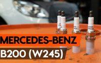 Comment remplacer un bougie d'allumage sur MERCEDES-BENZ B200 (W245) [TUTORIEL AUTODOC]