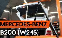 Comment remplacer verin de coffre sur MERCEDES-BENZ B200 (W245) [TUTORIEL AUTODOC]