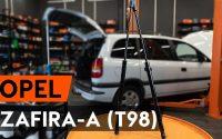 Comment remplacer verin de coffre sur OPEL ZAFIRA-A 1 (T98) [TUTORIEL AUTODOC]