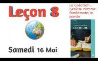 Leçon de l'école du sabbat Samedi 16 MAI 2020 la Bible 8