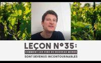 Leçon n°35 : Comment les vins du NOUVEAU MONDE sont devenus INCONTOURNABLES