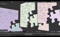 Modéliser un puzzle imprimable blender 2 82 Français tutoriel n°2 Svm6
