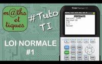 PROBA : Calculer une probabilité pour une loi normale - Tutoriel TI