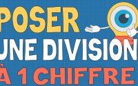 Poser une division à un chiffre - Leçon et exercices