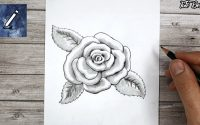 Rose dessinée au crayon de papier | Tutoriel dessin | leçon pour débutants