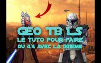SWGOHFR: Tutoriel 501EME pour 4/4 sur la TB GEONOSIS LS #LUX gameplay