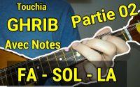 Touchia GHRIB partie 02 Tutoriel avec notes de musique توشية غريب