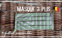 Tutoriel Couture - Masque alternatif à trois plis + filtre amovible | Cecile