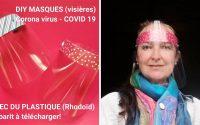 Tutoriel Masque Plastique Coronavirus COVID19 (Visière Rhodoïd)  Maison gabarit à télécharger!