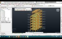 Tutoriel Robot Structural analysis: Bâtiment R+8 avec Charpente Métallique Partie 1