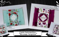 """Tutoriel-Vidéo { Carterie } Carte interactive """"message surprise !!"""" par Évasions Créatives"""