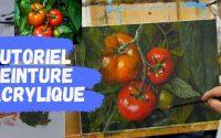 Tutoriel de peinture acrylique - Comment peindre des tomates impressionnistes