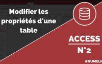 Tutoriel et cours Access n° 2 : Modifier une table