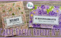 [Tutoriel n°33] Carte rapide | Scrap with Steph