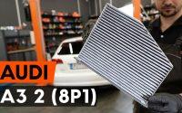 Comment remplacer un filtre d'habitacle sur AUDI A3 2 (8P1) [TUTORIEL AUTODOC]