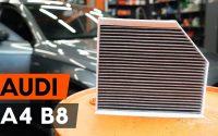 Comment remplacer un filtre d'habitacle sur AUDI A4 B8 Berline [TUTORIEL AUTODOC]