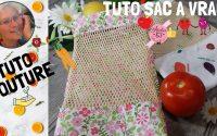 Coudre un sac à vrac pour fruits et légumes DIY tutoriel écologique zéro déchet, COUTURE FACILE ©A63