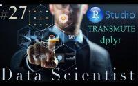 Formation Data Scientist #27- Tutoriel R - Sélectionner et ajouter une colonne avec transmute dplyr