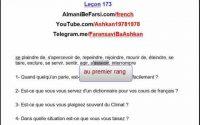 Leçon 173 جمله سازی، آموزش فرانسوی، فعل مهم