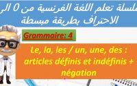Leçon N°4 Le, la, les / un, une, des : articles définis et indéfinis + négation