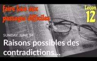 Leçon de l'Ecole du Sabbat  2020. Dimanche 14 Juin