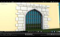 Les Châteaux Blender 2 82 Français Tutoriel N°5 Svm6  ( Porte, herse,mur ) animée