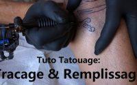 Tatouage, tuto tracage et remplissage, tutoriel, comment remplir et tracer