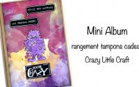 Tutoriel Mini album rangement tampons cadeau Crazy
