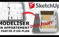 Tutoriel SketchUp DEBUTANT - Modeliser un appartement en 3D
