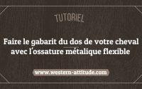 Tutoriel : faire un gabarit du dos du cheval avec l'ossature métallique flexible