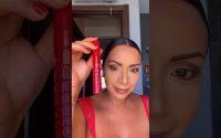 Tutoriel makeup glamour rouge à lèvres rouge