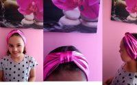tutoriel comment coudre un bandeau en tissu lycra - Helena Couture