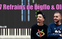 7 REFRAINS DE BIGFLO & OLI - PIANO TUTORIEL SYNTHESIA