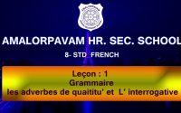 8 Std - French - Leçon : 2  (Grammar) Grammaire Les adverbes
