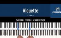 Alouette - Comptine (Partition facile - tutoriel - Méthode Piano Notion livre 1)