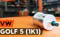 Changer un filtre à carburant sur VW GOLF 5 (1K1) [TUTORIEL AUTODOC]