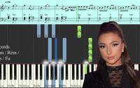 Eva - Chelou - Piano Tutoriel Synthesia