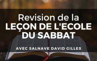 Revision de la leçon l'ECOSA (2) | Salnave David Gilles | 27 juillet 2020 | Mont des Olivers + MEODH