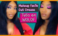 Tutoriel en WOLOF cut crease simple - maquillage sur peau noire en #wolof